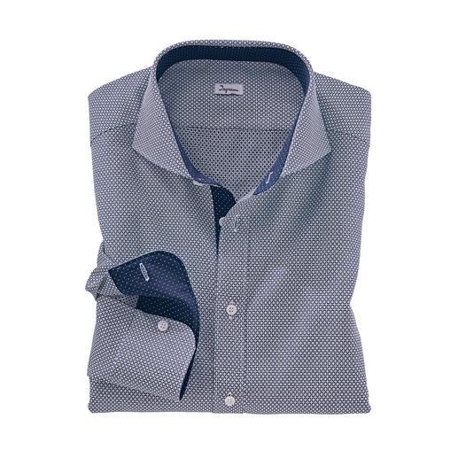 Chemise jacquard Ingram « motif cravate » Un motif cravate original, au bel effet 3D. Soigneusement teinté dans le fil du tissage jacquard.