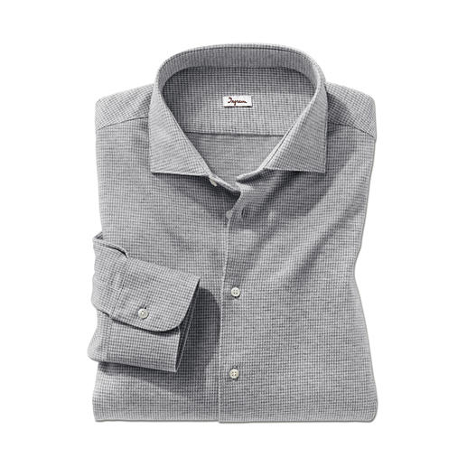 Chemise en jersey pied-de-poule Ingram Confortable comme un T-shirt. Douce comme une chemise en flanelle. Aussi convenable qu'une chemise d'affaire.