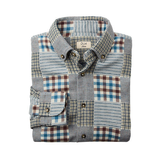 Chemise en flanelle Patchwork DU4 Idéale également comme surchemise chaude : le rare « poids lourd » parmi vos chemises en flanelle.