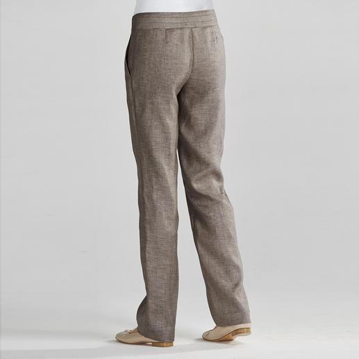 Pantalon d'affaires en lin Le pantalon en lin idéal pour le bureau : décontracté, aérien, flattant la silhouette.