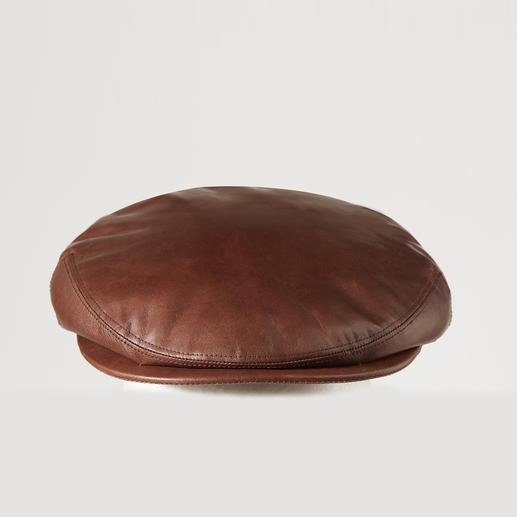 Casquette plate en cuir de mouton Kangol Casquette plate de luxe: en peau de mouton douillette. Par Kangol®, fabricant traditionnel britannique depuis 1938.