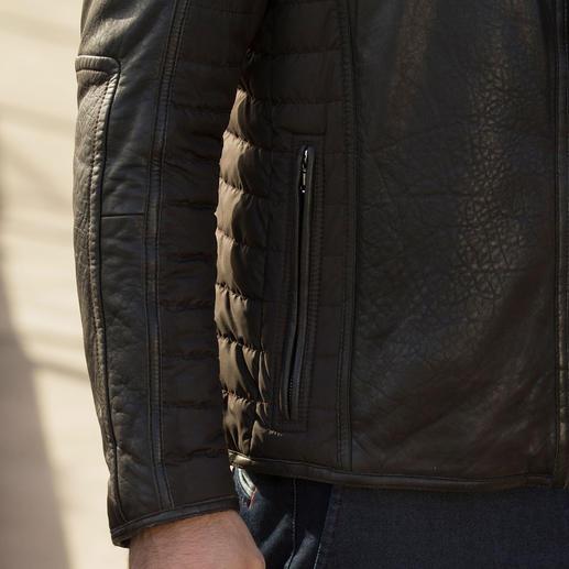 Veste en cuir micro-stretch Environ 30 % plus légère que les autres vestes chaudes en cuir.