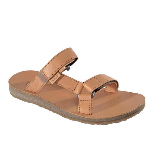 Sandales plates femme Teva® De la chaussure de trekking à la chaussure plate tendance en cuir.