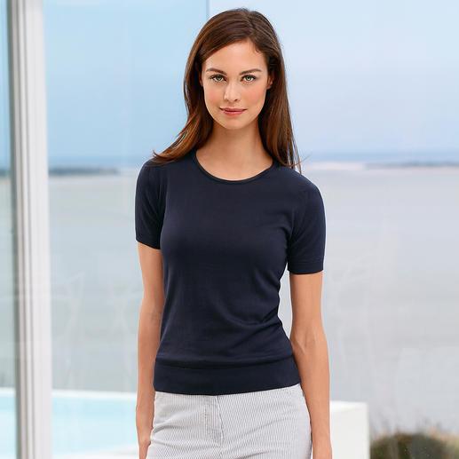 T-shirt en jauge 30 John Smedley, femme Peu répandue et facile à associer : la variante tricotée du T-shirt classique basique.