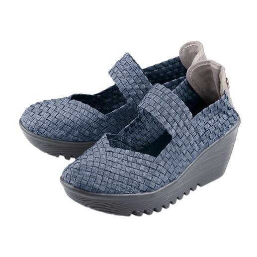 Chaussures compensées tressées à talon compensé bernie mev. Difficile de faire plus confortables, plus légères et plus aériennes.