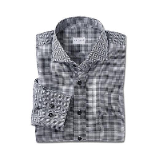 Chemise prince-de-galles Dorani Plus intéressante qu'une chemise unie. Mais tout aussi facile à associer. Motif prince-de-galles noir et blanc.