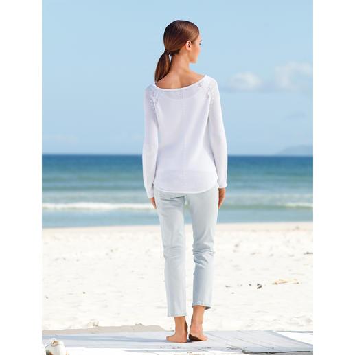 Pull en tricot diagonale neyo Beau tricot en diagonale pour ce pull-over basique en coton qui attire indéniablement le regard.