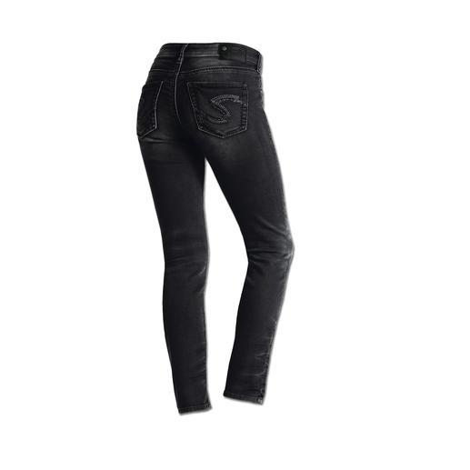 Jean en jersey Silver®, Anthracite L'allure d'un jean authentique et le confort d'un pantalon yoga.