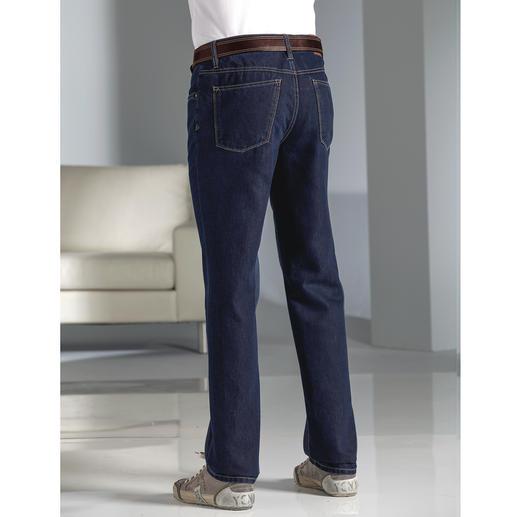 Jean en soie Hiltl Additionné de soie : le jean de luxe pour l'été. Plus lisse, plus doux, plus aéré et plus présentable.