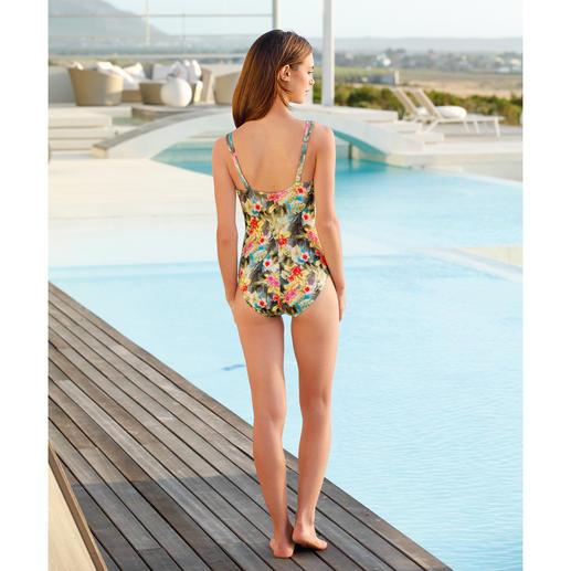 Maillot de bain SunSelect® « Hibiscus » Un maillot de bain à l'effet d'une bonne crème solaire. En SunSelect® qui laisse passer les rayons du soleil.