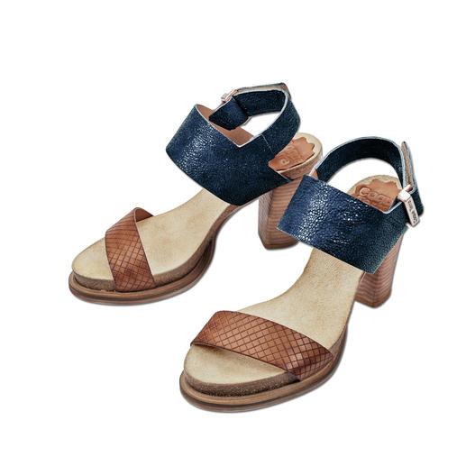 Sandalettes à voûte plantaire Coque Terra Ultra confortables grâce à la voûte plantaire en liège et latex. Style mode, élancé et très élégant.