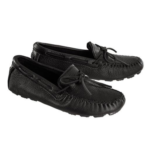 Mocassins Minnetonka®  en cuir d'élan Les véritables chaussures Minnetonka®: tradition séculaire indienne, travaillée comme un véritable mocassin.