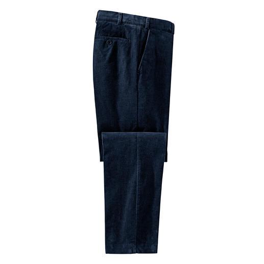 Pantalon en velours finement côtelé Hoal 52 côtes par pouce de tissu : difficile de trouver un velours plus finement côtelé.