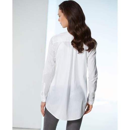 Chemisier long swiss+cotton La pièce maîtresse : une ligne très tendance et une qualité premium.