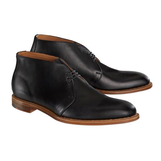 Chaussures à lacer Solovair® en cuir veau Finesse du cuir veau. Réalisé à la main.