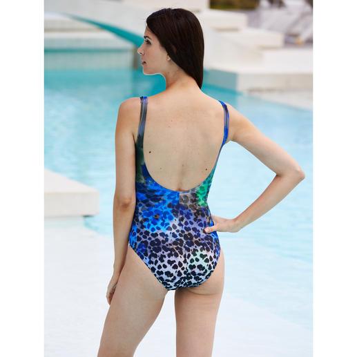 Maillot à effet amincissant « Blue Leopard » Ligne affinée grâce à 20 % de Lycra® Xtralife. Effet amincissant grâce au motif avantageur & coupe flatteuse.