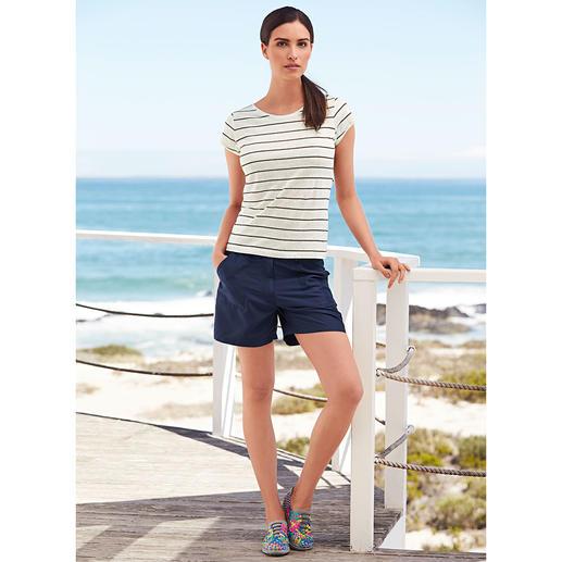 Shirt à rayures et manches longues ou courtes en lin tricoté Fraîcheur agréable à la peau tout en restant bien sec lorsque les températures grimpent.