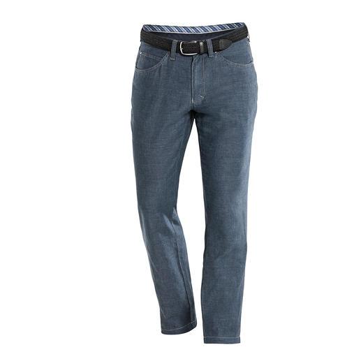 Pantalon 5 poches en lin et coton Enfin un pantalon en lin aéré qui vous sied comme un jean.
