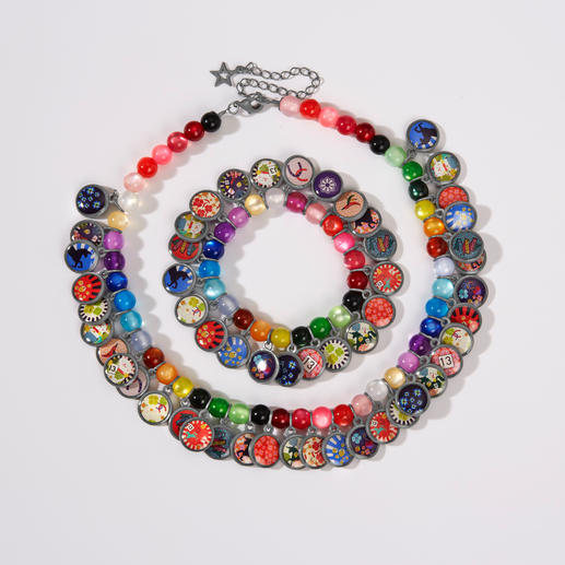 Collier ou Bracelet ethnique porte-bonheur LITCHI Bijoux tendance au style ethnique, soigneusement réalisés à la main, avec pendentifs porte-bonheur brésiliens.