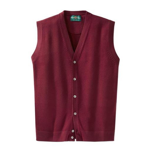 Veste en tricot Mérinos Alan Paine « Wash & Dry » La veste en laine mérinos adaptée au lave-linge (et au sèche-linge). Par Alan Paine, Angleterre, depuis 1907.