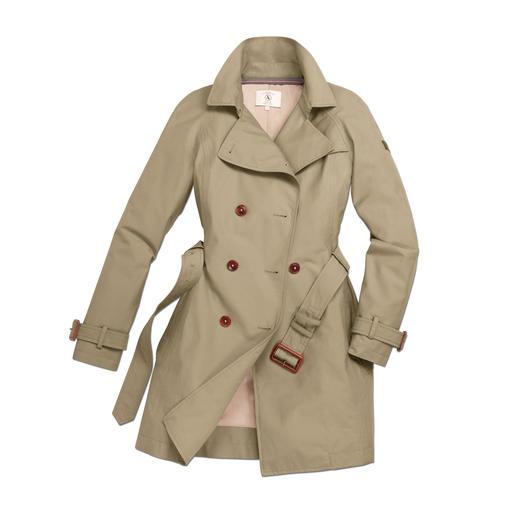 Trench-coat tous temps Aigle Un trench classique pour affronter le vent et la pluie. Imperméable et coupe-vent. Bien chaud et respirant.