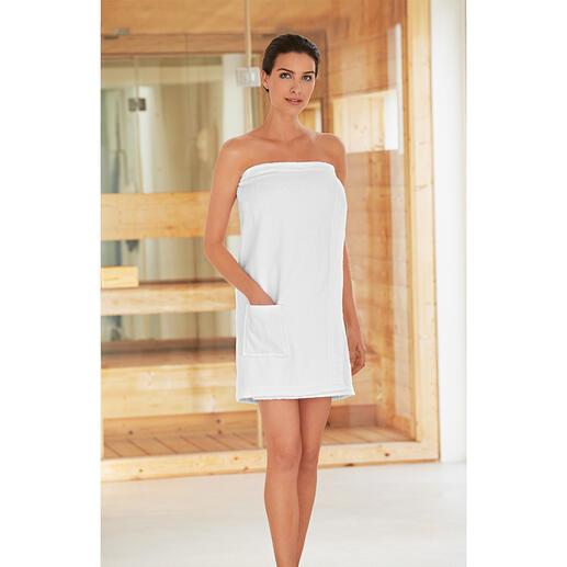 Sarong de sauna Taubert et Kilt N'en montrez pas plus que nécessaire avec le sarong et le kilt de sauna à triple fermeture.