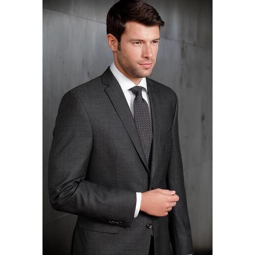 Cravate à relief Ascot Si sobre et pourtant si remarquable : la cravate 3D avec relief style calandre. Par Ascot, Krefeld.