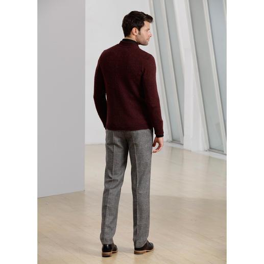 Veste en tricot « brossé » Phil Petter Ultra douillet, sans gratter : le tricot « brossé ». Fabriqué sur d'anciennes machines à brosses.
