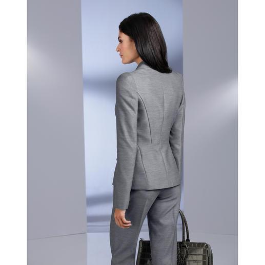 Blazer ou Pantalon «platine» Barbara Schwarzer Un tailleur de créateur simple, à porter au quotidien.