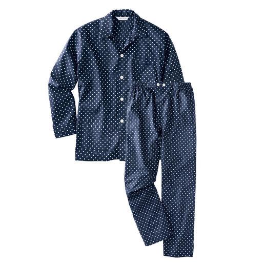 Pyjama Winston La nuit, le gentleman porte le motif à pois classique.
