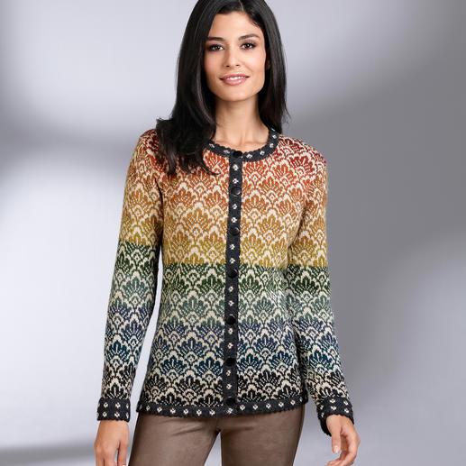 Cardigan 14 couleurs en alpaga Réalisé à l'unité par les plus grands spécialistes du tricot en Bolivie.