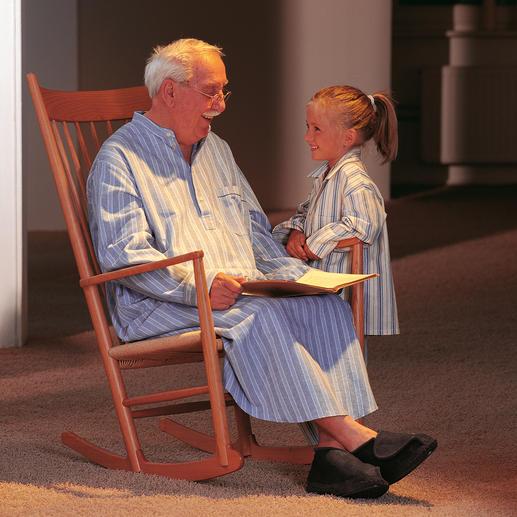 Chemise de nuit Grandpa Un confort nostalgique : douce à s'y blottir et chaude, en précieuse flanelle de coton gratté.