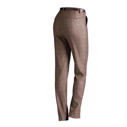 Pantalon chino Mason's motif Prince-de-Galles Coupé pour sublimer la silhouette féminine : le pantalon chino féminin au motif Prince-de-Galles actuel.