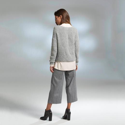 Pull-over en grosse maille alpaga « Slim Line » Un modèle rare : le plus léger et le plus élancé des pulls en grosse maille.