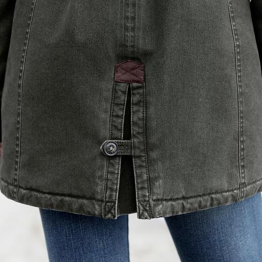 Parka femme tous temps Sailors & Brides Enfin une parka en coton aussi coupe-vent et imperméable qu'une veste technique.