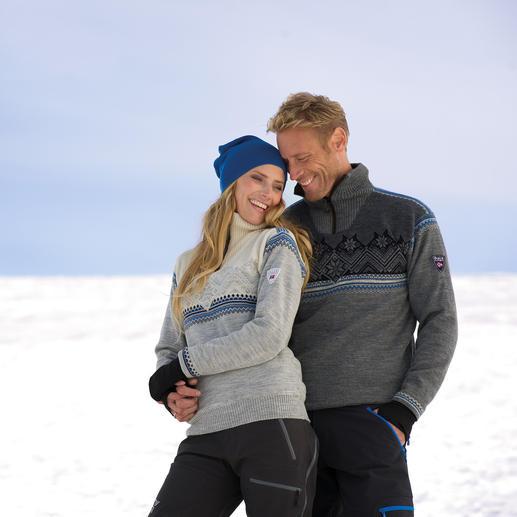 Pull-over norvégien « Glittertind » pour femme et homme Initialement créé pour une expédition au pôle Sud : déperlant, coupe-vent et respirant.