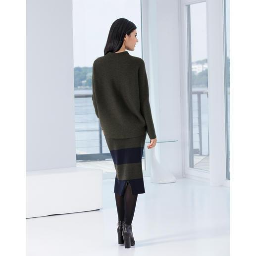 Pull-over surdimensionné ou Jupe crayon en tricot Un ensemble élégant au style épuré en pure laine mérinos.