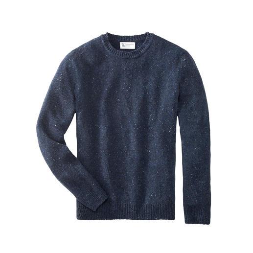 Pull-over hommes en tweed cachemire 4 fils Johnstons Tellement rare, tellement doux : pull-over en tweed doux Donegal, 100 % cachemire 4 fils d'une finesse extrême.