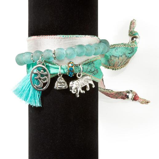 Lot de bracelets porte-chance Anisch de la Cara Chaque bijou est unique. Fabriqué à la main en Espagne.