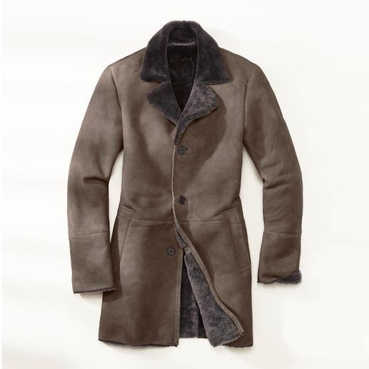 Manteau en laine d'agneau mérinos Fourrure de laine mérinos ultra douce d'Espagne. Confectionnée avec soin en Turquie.