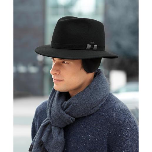 Chapeau d'hiver Mayser Élégant comme un chapeau, mais aussi chaud qu'un bonnet. Avec rembourrage polaire et protège-oreilles.