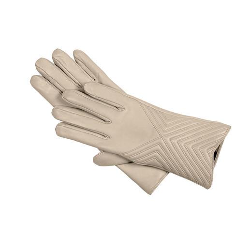 Gants en cuir agneau nappa Merola Le gant de luxe pour toutes les associations claires ton-sur-ton.