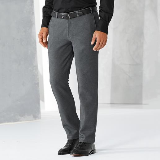Pantalon d'affaires en jersey Hiltl Un aspect drap de laine, idéal pour le monde des affaires, mais confectionné en jersey confortable.