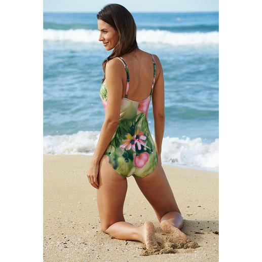 Maillot de bain SunSelect® « motifs aquarel floraux » Un maillot de bain à l'effet d'une bonne crème solaire. Avec motifs floraux aquarel originaux.