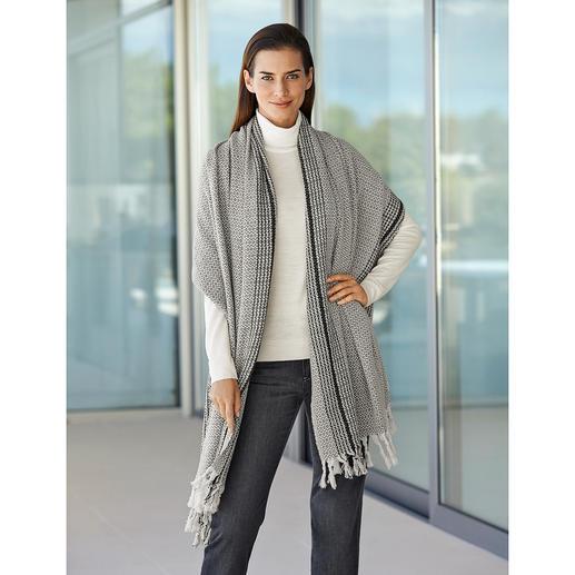 Foulard surdimensionné en coton Une pièce unique tissée à la main au lieu d'un produit issu de la production de masse.
