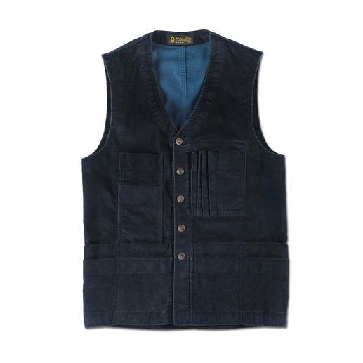 Gilet 19 poches en velours côtelé Hollington - Toujours aussi pratique depuis les années 70. Aujourd'hui réactualisé au goût du jour. De PatricHollington.