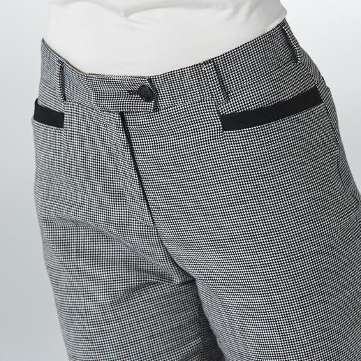 Pantalon en flanelle stretch « pied-de-coq » Allure et motif contemporains, à un prix étonnement avantageux.