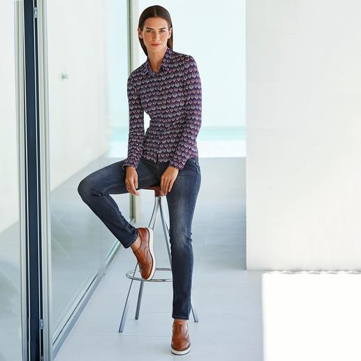 Chemise en jersey KD-Klaus Dilkrath Aussi élégant qu'un chemisier. Aussi confortable qu'un T-shirt.