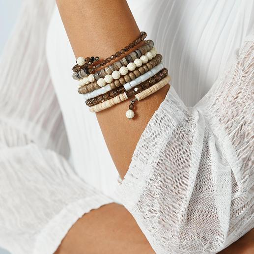 Bracelet spirale ethnique Langani 7 bracelets en un. Le spectaculaire bracelet spirale par Langani.  Fabriqué à la main en Allemagne.