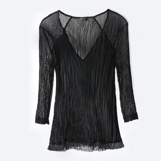 Shirt de voyage « plissé » Shelley Komarov Être bien habillée en toute simplicité. Confortable, à l'entretien aisé et néanmoins chic.